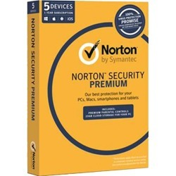 Norton Security Premium Oem Software Single Pack 5 User 1 Year License found on MODAPINS from Simply Wholesale for USD $78.34