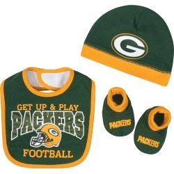 Green Bay Packers Baby Boy Accessories, 3pc Set - 0-6M