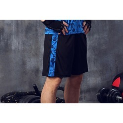 Costbuys  Men's Sport Running Shorts GYM Shorts Board Basketball Shorts Dry Breathable Knee-length Men's Trunks - Blue / XL