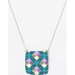 Oversized Square Pendant - Geometrical Square Abst.6 in Brown/Green/Purple by VIDA Original Artist found on Bargain Bro Philippines from SHOPVIDA for $55.00