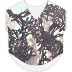 Women's V-Neck Top - Subtleties in Brown/White by VIDA Original Artist found on Bargain Bro Philippines from SHOPVIDA for $100.00