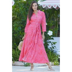 Alice Maxi Dress Zebra Pink/Red - Zebra Pink/Red / S found on MODAPINS from ASPIGA for USD $150.30