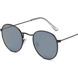 Costbuys  Sunglasses Women Round Summer Classic Sunglases Metal Frame Trends Fashion Glasses women's sunglass 90s glass - C06