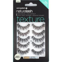 Salon System Naturalash Texture 109 Multipack (5 Pairs) False Eyelashes found on Bargain Bro UK from FalseEyelashes.co.uk