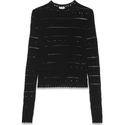 Saint Laurent Women's High Collar Lace Top in Black size Small found on Bargain Bro India from kirna zabete for $1290.00