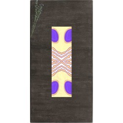 Table Runner - Yellow Blue Abstract in Brown/Purple/Yellow by VIDA Original Artist found on MODAPINS from SHOPVIDA for USD $55.00