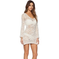 9a23050209 Costbuys Bikini Set Beach Dress Female Solid Sexy Knitted Hollow Out Beach  Overall Dress Blouse Women