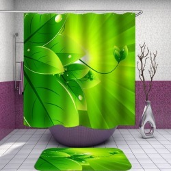 Dew on Green Leaves Shower Curtain found on Bargain Bro from Simply Wholesale for USD $47.25