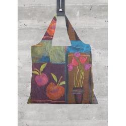 Foldaway Tote - Fruit And Flowers by VIDA Original Artist