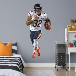 """David Montgomery for Chicago Bears - Officially Licensed NFL Removable Wall Decal Life-Size Athlete + 2 Decals (35""""W x 76""""H) by"""