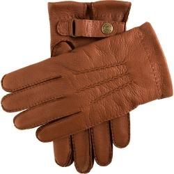 Dents Men's Handsewn Cashmere Lined Deerskin Leather Gloves In Havana Size 8.5 found on Bargain Bro UK from Dents