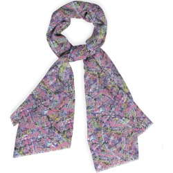 Cashmere Silk Scarf - Jss- Abstraccion - 161042 in Brown by VIDA Original Artist found on Bargain Bro Philippines from SHOPVIDA for $85.00