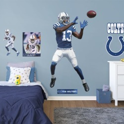 """T.Y. Hilton for Indianapolis Colts - Officially Licensed NFL Removable Wall Decal Life-Size Athlete + 9 Decals (38""""W x 76""""H) by"""