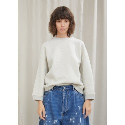 Acne Studios Wool Cotton Shrunken Sweatshirt Light Grey Melange (cream) Size: Medium found on MODAPINS from la garconne for USD $310.00