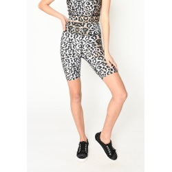 Nicole Miller Leopard Biker Shorts In Leopard | Spandex/Nylon | Size Petite found on MODAPINS from Nicole Miller for USD $105.00