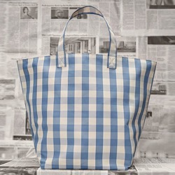 Costbuys  Famous women bag new simple lattice runway bag Tote pack large capacity portable shopping bag Top-Handle Bags - blue b