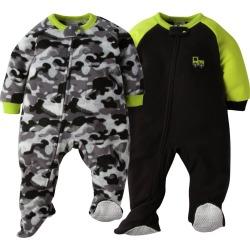 2 Pack Baby Boy Camo Blanket Sleepers 24M