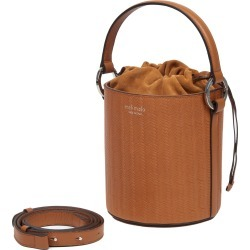 Meli Melo Santina Tan Woven Leather Bucket Bag for Women found on Bargain Bro UK from meli melo