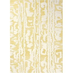 Waterwave Stripe Citron Contemporary Hand Tufted Rug found on Bargain Bro from Simply Wholesale for USD $524.50
