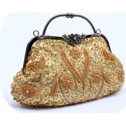 Costbuys  Women Bag Fashion Evening Bag Party Clutch Handbag Slap-up Shiny Bride Purse Wedding Woman Birthday Gift For Women - G