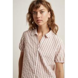 Besley Stripe Woven Short Sleeve Button-Up Shirt (XS), Velvet by Graham & Spencer