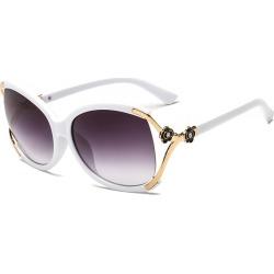 Costbuys  New Fashion Sunglasses Women Men Designer Eyewear Hollow Oval Frame Vintage Gradient Oculos de sol UV400 A351 - C3-Whi