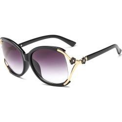 Costbuys  New Fashion Sunglasses Women Men Designer Eyewear Hollow Oval Frame Vintage Gradient Oculos de sol UV400 A351 - C1-Bla