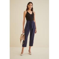 Anissa TENCEL™ Twill Pants For Women - Navy