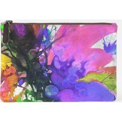Carry-All Pouch - Carry All Blossoming 113 in Blue/Green/Purple by VIDA Original Artist