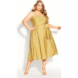 City Chic Sun Stripe Dress in Yellow Size 22/X-Large found on MODAPINS from CoEdition for USD $83.30