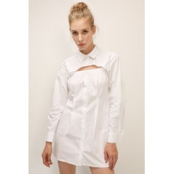 PAIGE CUTOUT BUST SHIRT DRESS found on Bargain Bro Philippines from jae. co., ltd for $79.90