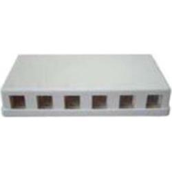 6 Port Keystone Surface Mount Box