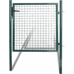 Single Door Fence Gate Powder Coated Steel