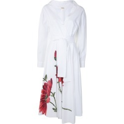 Adam Lippes Women's Asymmetrical Wrap Floral Cotton Poplin Midi Dress in Red/White size 0 US found on MODAPINS from kirna zabete for USD $1290.00