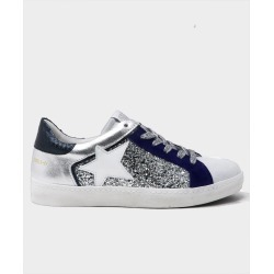Carla Star Glitter Trainers Silver/Navy - Silver/Navy / 37 found on Bargain Bro UK from ASPIGA