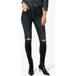 Joe's Jeans Women's The Icon Ankle Skinny Jeans in Gwenneth/Black | Size 34 | Cotton/Elastane