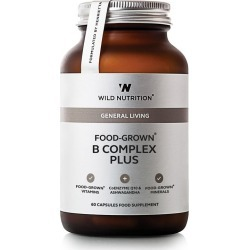 Wild Nutrition Food-Grown B Complex Plus - 60 capsules found on Makeup Collection from Oxygen Boutique for GBP 22.61