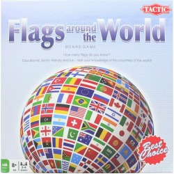 Flags Around the World Family Board Game For 2-6 Players