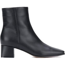 Gianvito Rossi Women's Square Toe Heel Boot in Black size 36.5I found on MODAPINS from kirna zabete for USD $995.00
