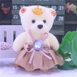 Costbuys 10 PCS Cute Soft Plush Diamond Bear Wedding Gift Bride Groom...