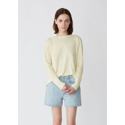 Acne Studios Taline Long Sleeve Linen Tee Vanilla Yellow Size: Small found on MODAPINS from la garconne for USD $180.00