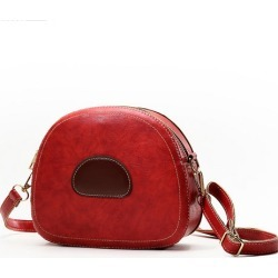 Costbuys  Winter Soft Leather Small Round Shoulder Bags Handbags Women Famous Casual Evening Clutch Messenger Bag Sac A Main - R