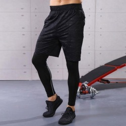Costbuys  Men Running Sports Shorts Fitness Workout Gym Basketball Quick Dry Sportswear - XL