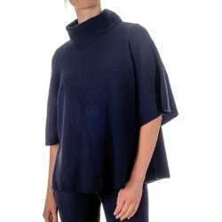 Navy Roll Neck Cashmere Sleeved Poncho found on Bargain Bro from black.co.uk for £128