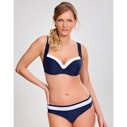Panache Anya Cruise Moulded Multiway Bikini Top Navy/White found on MODAPINS from Brastop Ltd for USD $53.58