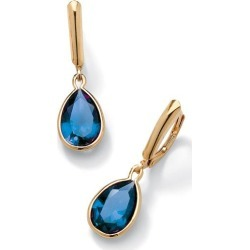 18k Gold over Silver Simulated Gemstone Leverback Earrings - November found on Bargain Bro India from Until Gone for $46.00