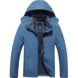 Costbuys  Men Jacket Waterproof Windproof Jackets Mens Outdoorsports Winter Coat Military Outwear windbreaker - Sky Blue / XL