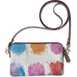 Statement Clutch - Colorful Watercolor in Blue/Brown/Pink by VIDA Original Artist found on MODAPINS from SHOPVIDA for USD $40.00