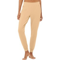 Alo Yoga Unwind Sweatpant - Putty - Size M - Performance Fabric