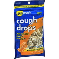 Sunmark Cough Drops Honey Lemon Flavor 30 Each by Sunmark